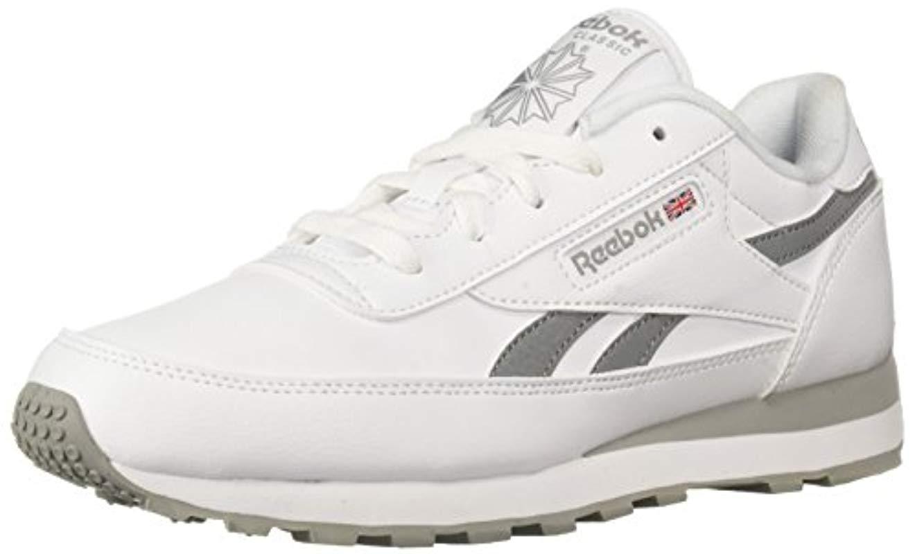 3a85bfaed1 Lyst - Reebok Classic Renaissance Walking Shoe White flat Grey