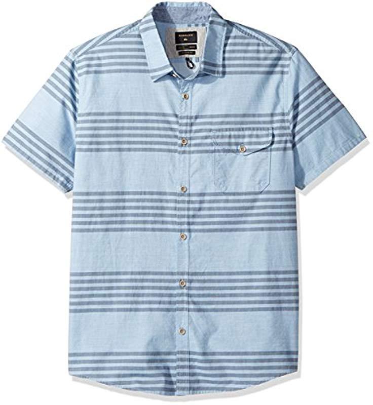 Lyst - Quiksilver Srut Box Button Down Shirt in Blue for Men