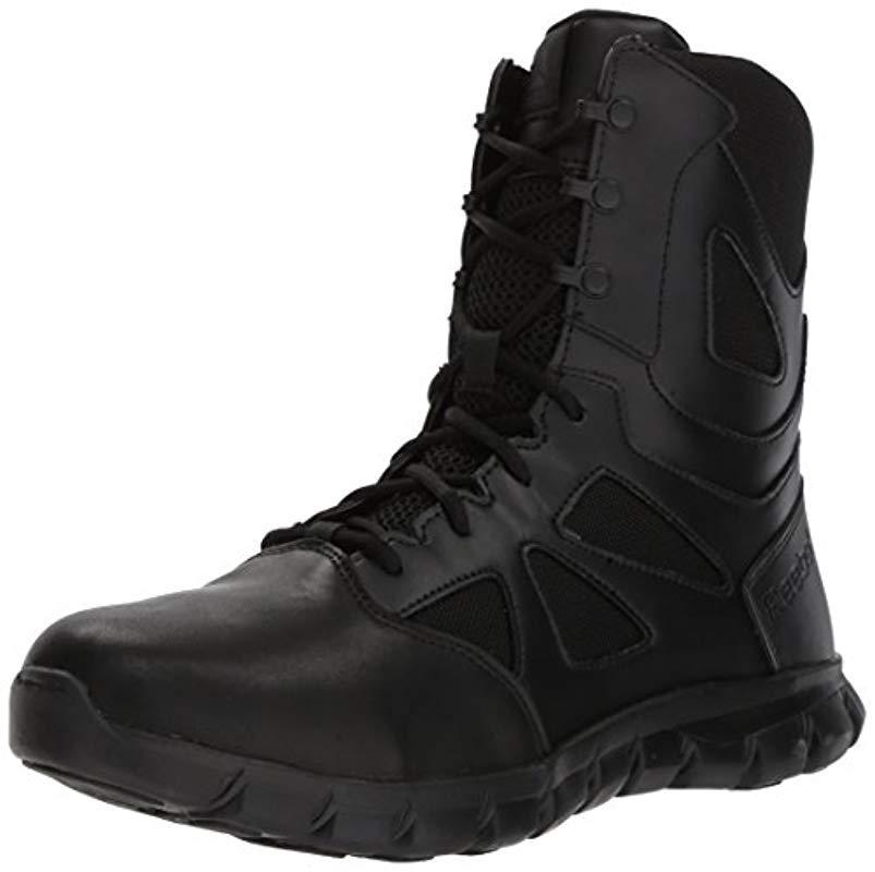 a6ea0e1a9bbfe3 Reebok. Men s Black Sublite Cushion Tactical Rb8805 Military   Tactical Boot