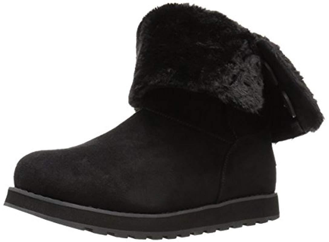 fa1c2a80801e9 Lyst - Skechers Keepsakes-big Button Slouch Mid Winter Boot in Black