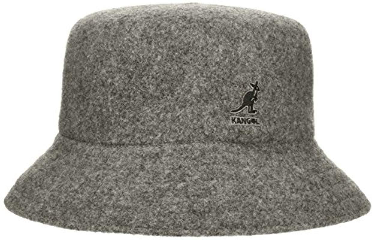 dfcc79eab78 Lyst - Kangol Wool Lahinch Bucket Hat in Gray for Men - Save ...