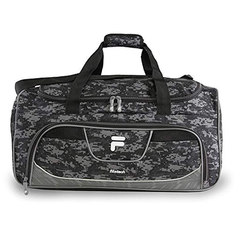 Lyst - Fila Speedlight Medium Duffel Gym Sports Bag Gym Bag in Black ... c199955e5a5cc
