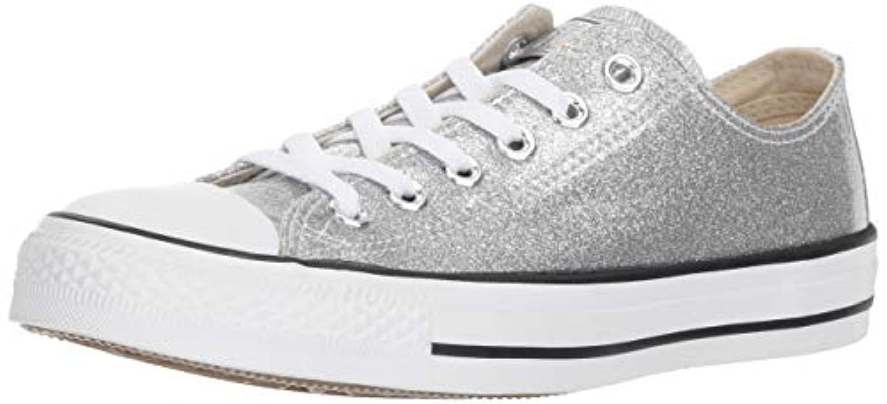 e181efe16814 Converse. Women s Metallic Chuck Taylor All Star Glitter Canvas Low Top  Sneaker