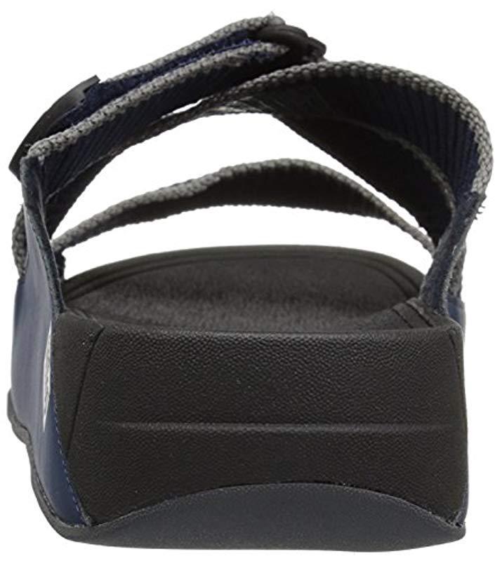 152d866927d682 Lyst - Fitflop Sling Ii Slide Sandals In Webbing in Blue for Men