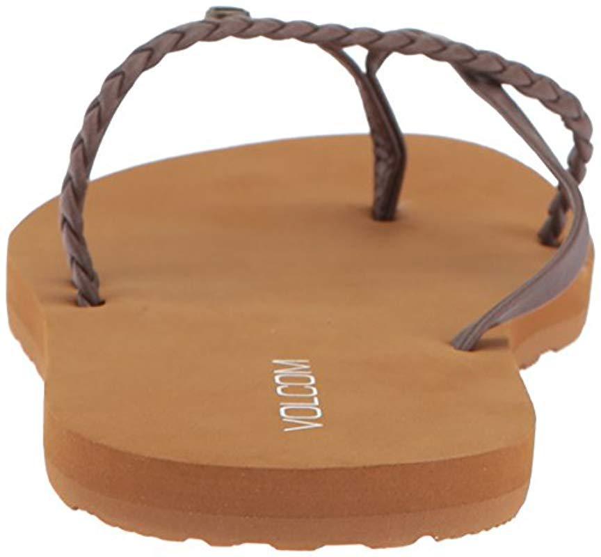 b68d0bdb45dfe Volcom - Brown Thrills Dress Sandal - Lyst. View fullscreen