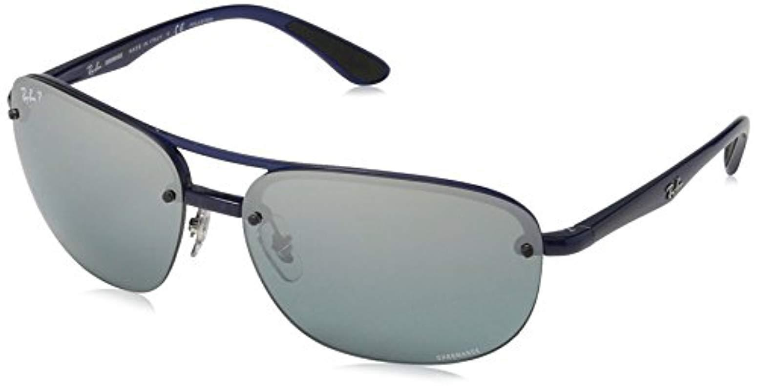 283211ac17 Lyst - Ray-Ban Rb4275ch Chromance Lens Square Sunglasses in Blue for Men