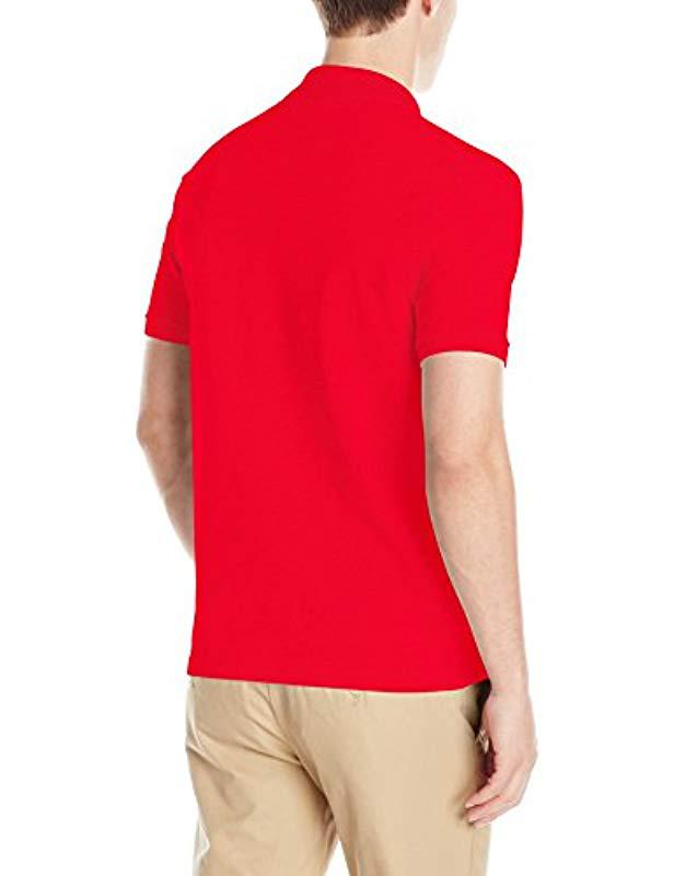 18d8fcd924d1 Lyst - Lacoste Stretch Mini Pique Slim Fit Polo Shirt in Red for Men - Save  4.49438202247191%