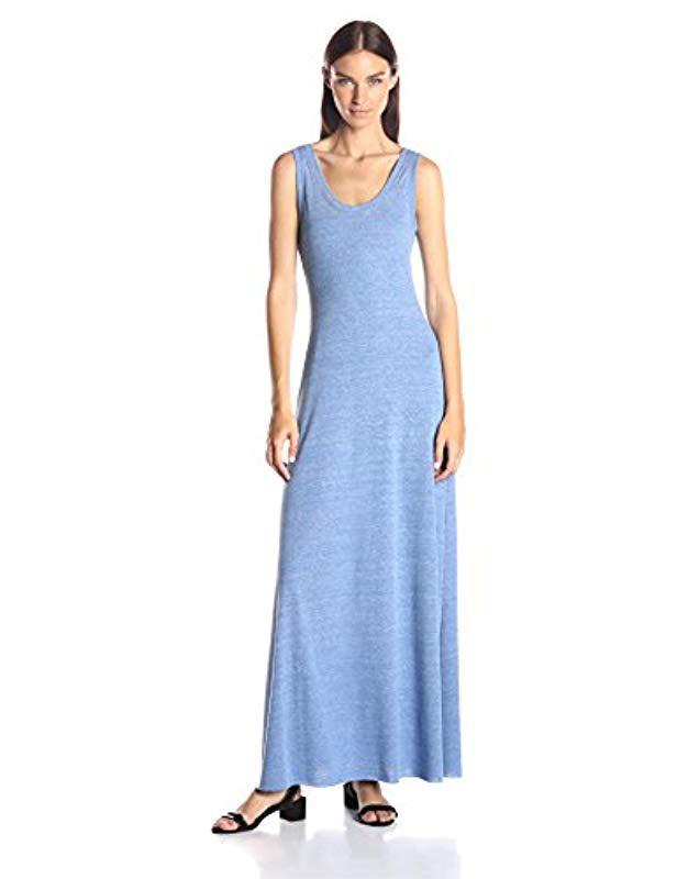 3361875412 Lyst - Alternative Apparel Racerback Maxi Dress in Blue - Save 56%