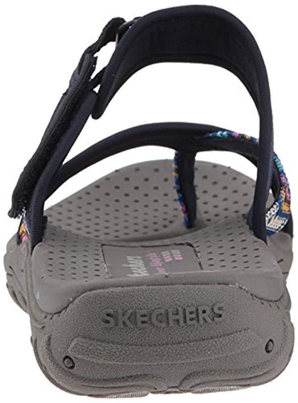 77d17e902aa3 Skechers - Blue Reggae-Sparkle Swag-toe Thong Sandal Webbing - Lyst. View  fullscreen