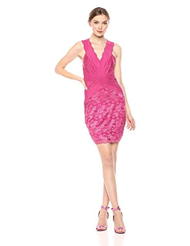 f6154ce65d Guess Sleeveless Lisette Dress in Pink - Lyst