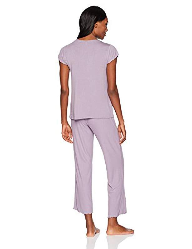 36620520dbb Lyst - Maidenform Rococo Affairs Lounge Shirt And Rib Pant Set in Purple