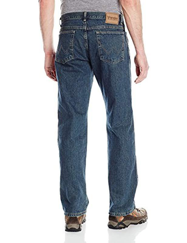 3d56c19fcf1 Lyst - Wrangler Big Rugged Wear Relaxed Straight-fit Jean Jean in Blue for  Men - Save 10%