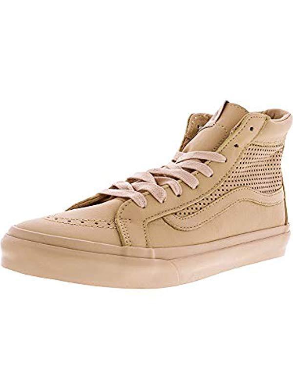 32a68fe12fd8ff Lyst - Vans Unisex Sk8-hi Slim Skate Shoe in Natural for Men