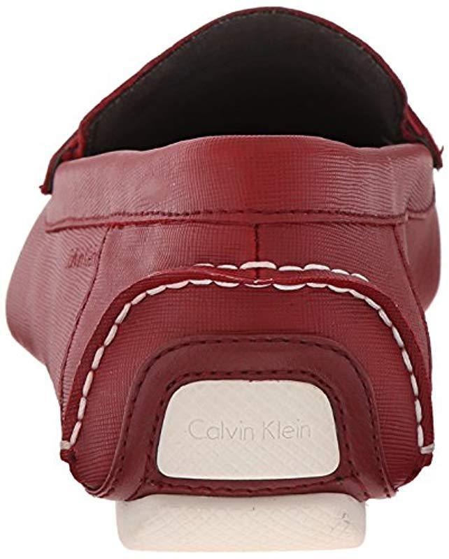 fb61b8d27e0 Lyst - Calvin Klein Magnus Slip-on Loafer in Red for Men - Save 10%