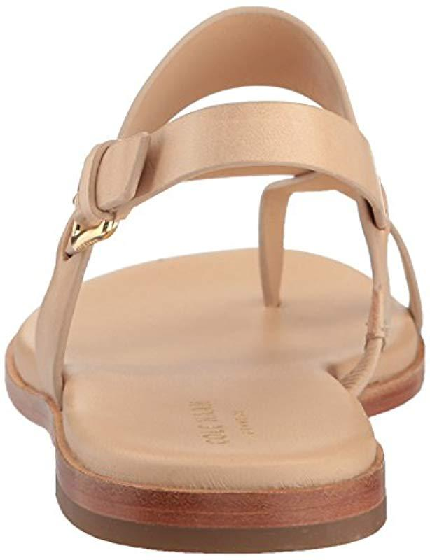 b4d7a5abd1ee4 Lyst - Cole Haan Anica Thong Sandal (acorn rose Gold Metallic) Women s  Dress Sandals in Natural - Save 1%