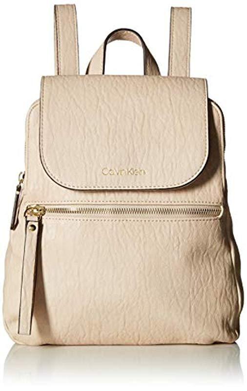 f60ef2c94e40 Calvin Klein. Women s Black Elaine Bubble Lamb Novelty Key Item Flap  Backpack