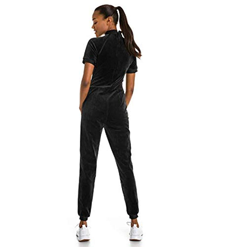 e09a51c390dc PUMA - Black X Selena Gomez Jumpsuit Pants - Lyst. View fullscreen
