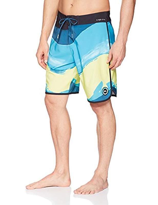 Lyst - Quiksilver Highline Resin Scallop 19 Boardshort Swim Trunk in ... e7ec34ee0a