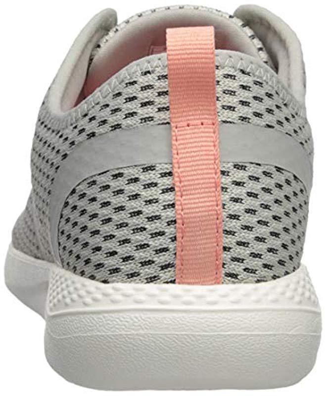 3c55b835c93d Lyst - Crocs™ Literide Mesh Lace in White - Save 75%