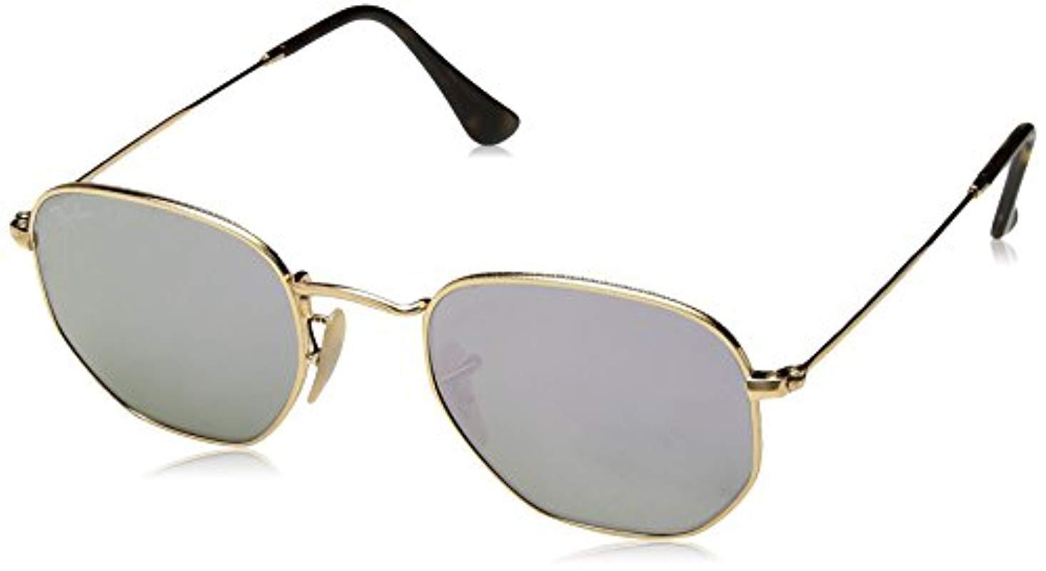 4ea4a0e8975 Ray-Ban. Men s Metallic Rb3548n 001 8o Non-polarized Hexagonal Sunglasses