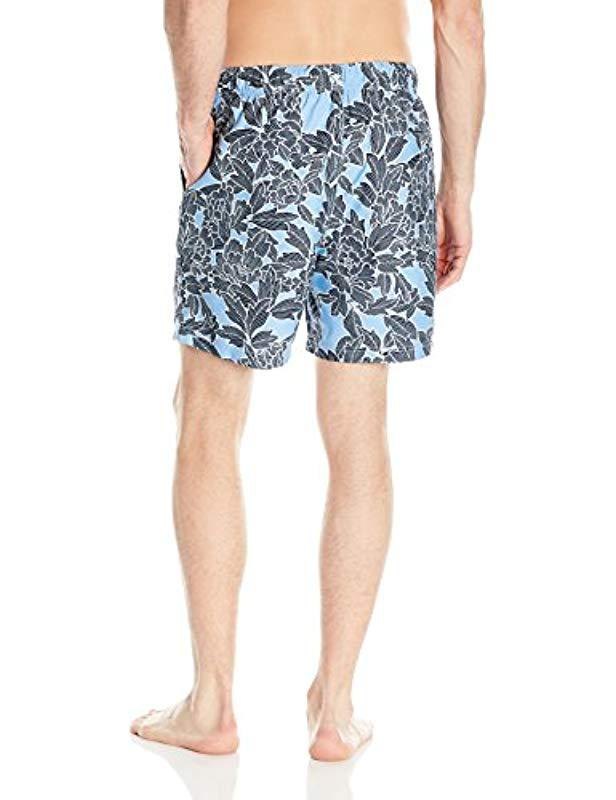 8062fe2d60 Lyst - Nautica Quick Dry Floral Print Swim Trunk in Blue for Men