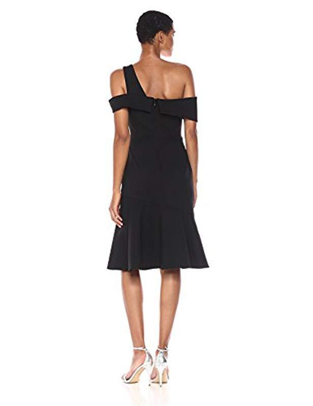 Lyst Adelyn Rae Nicole Knit One Shoulder Trumpet Dress In Black