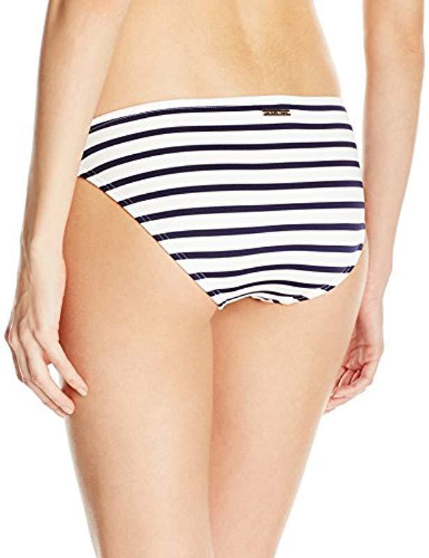 3b8212cee7 Lyst - Vince Camuto Classic Bikini Bottom Swimsuit in Blue - Save 22.0%