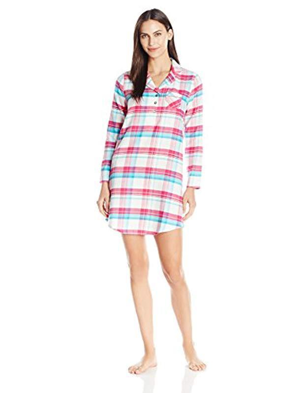 Jockey. Women s Plaid Flannel Sleepshirt c01a35eeb