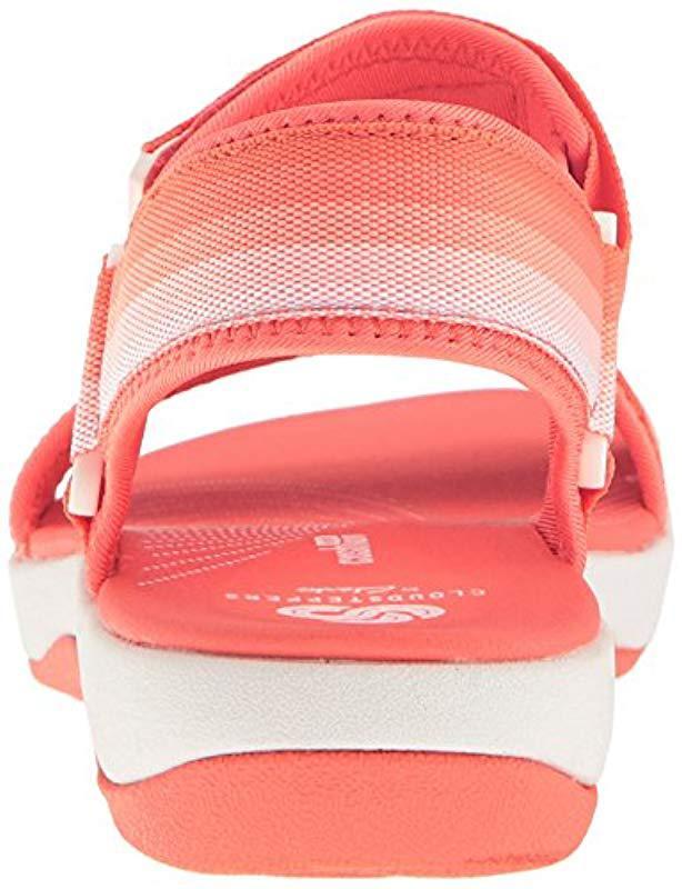 a39a8e5a8782 Lyst - Clarks Brizo Ravena Flat Sandal in Pink - Save 45%