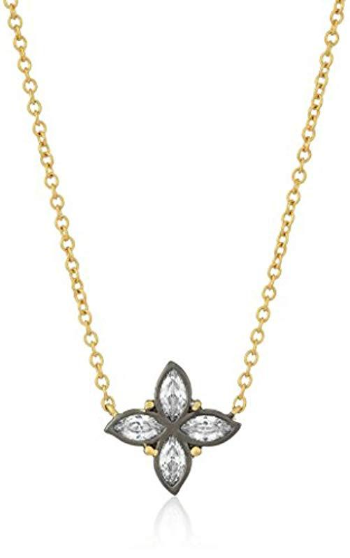 Lyst Freida Rothman S Signature Bloom Clover Leaf Pendant Necklace