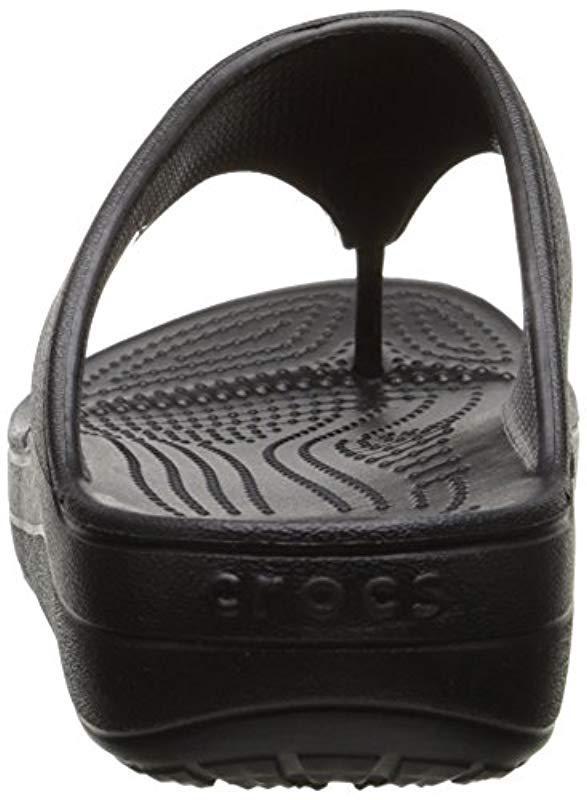07a05213e66 Crocs™ - Black Sloane Platform Flip-flop - Lyst. View fullscreen