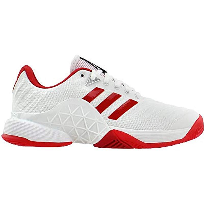 buy popular 66f1e e8043 Adidas - White Barricade 2018 W Tennis Shoe - Lyst. View fullscreen
