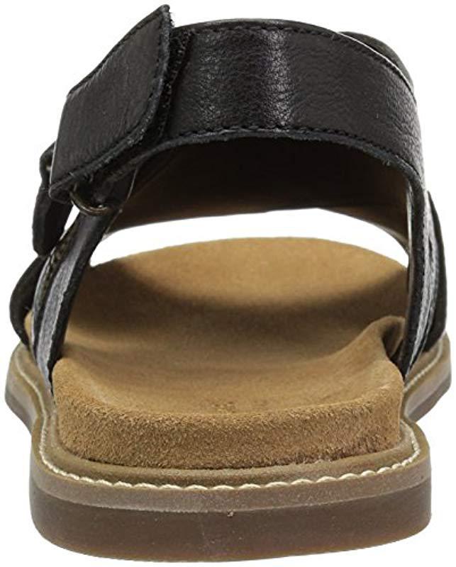 c2c6c8bd9e5 Lyst - Clarks Corsio Calm Flat Sandal in Black
