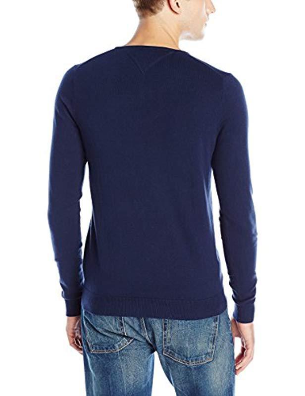 e44153f2 Lyst - Tommy Hilfiger Denim Original Crew-neck Long-sleeve Sweater in Blue  for Men