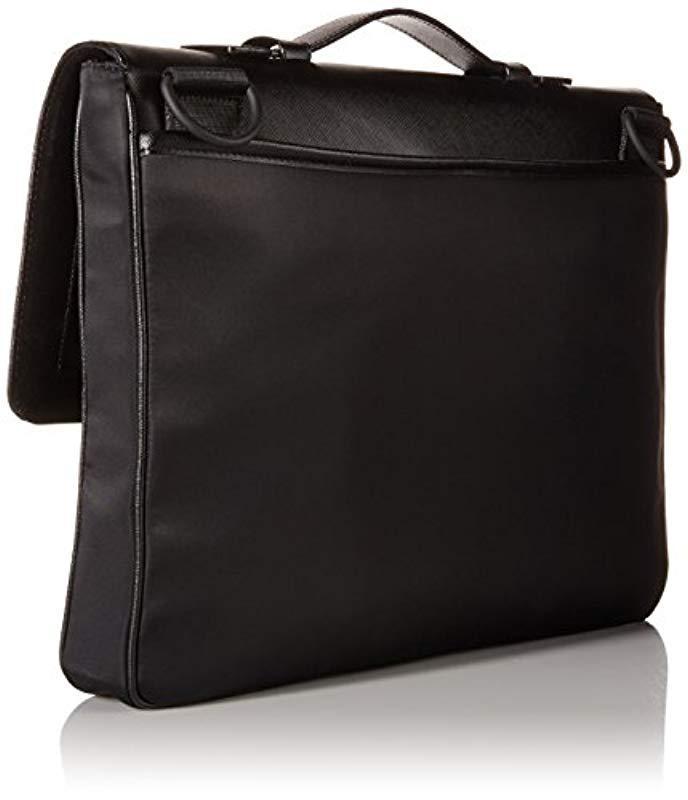 78244f394376 Lyst - Calvin Klein Nylon Saffiano Attache in Black for Men - Save 25%