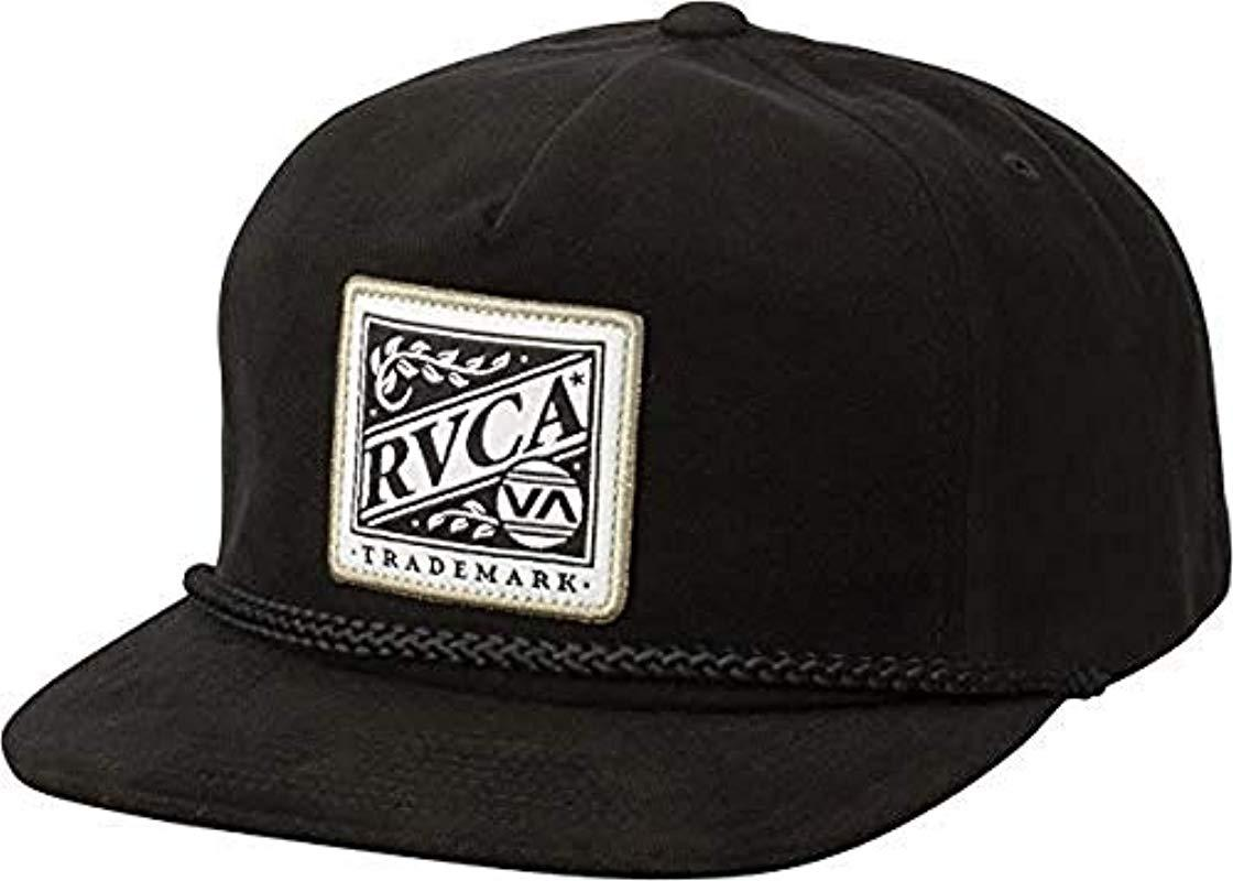 e8a36fe344d2a RVCA Dawn Snapback Hat in Black for Men - Lyst