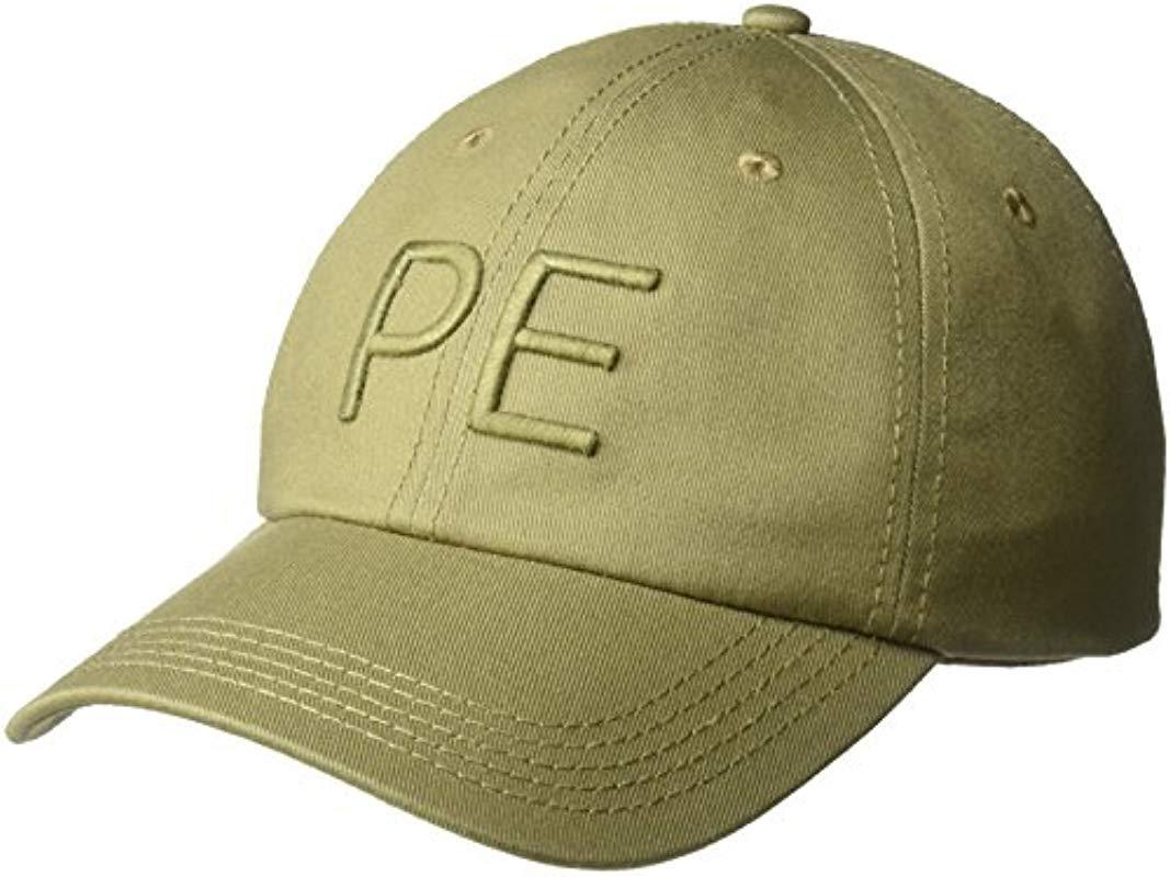 7ebb3cc1530 Lyst - Perry Ellis Classic Cotton Twill Baseball Cap in Green for Men