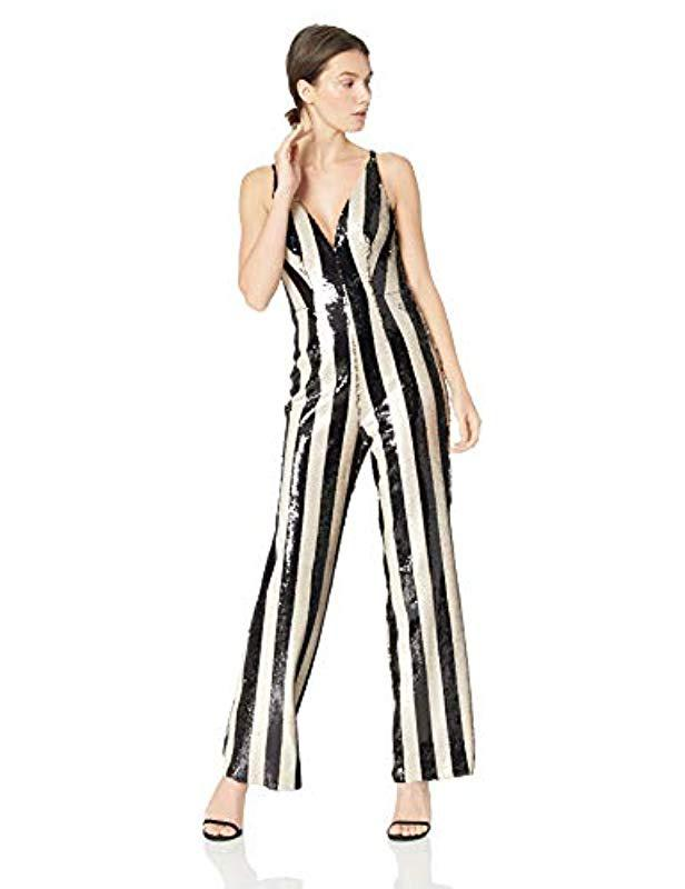 61759ac4c2f Dress the Population. Women s Black Charlie Plunging Sequin Sleeveless  Jumpsuit