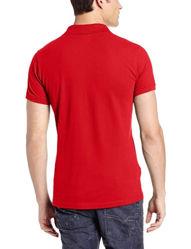 edefd4bb Lyst - DIESEL T-alfred Polo Shirt in Red for Men
