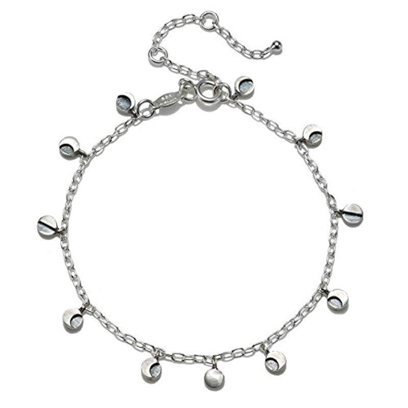 6017cc7dc19 Satya Jewelry. Women s Metallic Sterling Silver Moon Phase Charm Bracelet