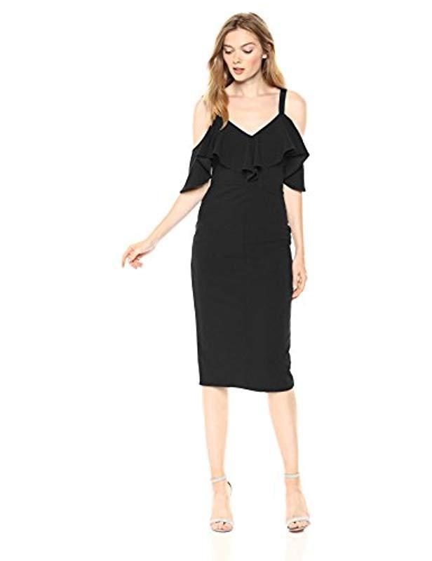 ede4cfa1ad RACHEL Rachel Roy Plus Size Marcella Midi Dress in Black - Save 18 ...