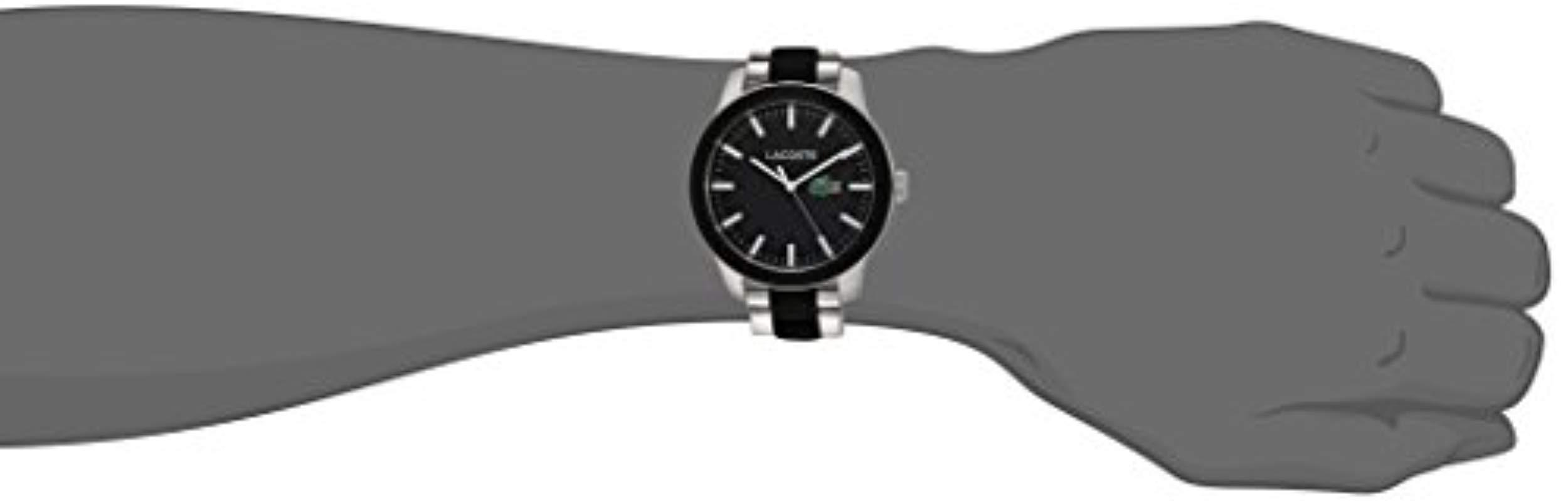 Lacoste - Black 12.12 Quartz Stainless Steel Casual Watch Multi Color for Men - Lyst. View fullscreen