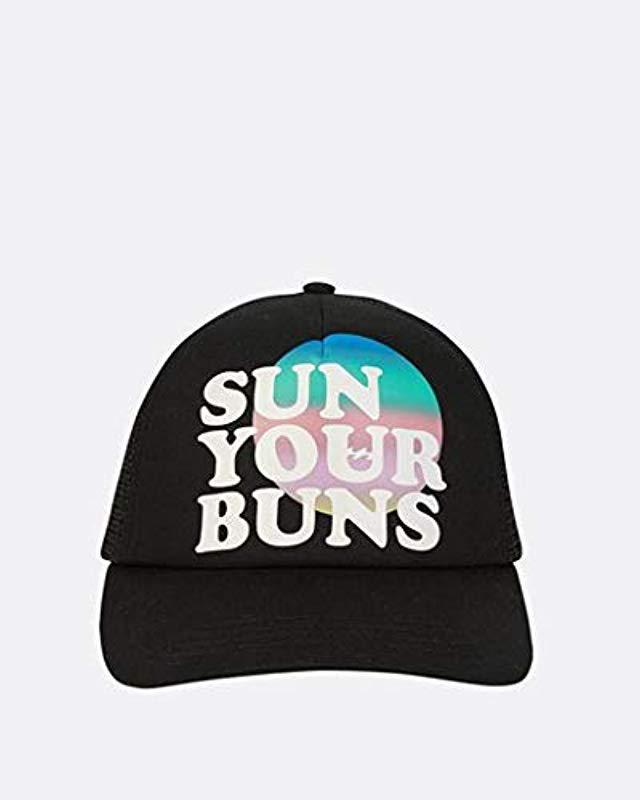 designer fashion fbda6 47c7d ... sweden lyst billabong sun your bunz hat in black save 63.1578947368421  6490c 99f79