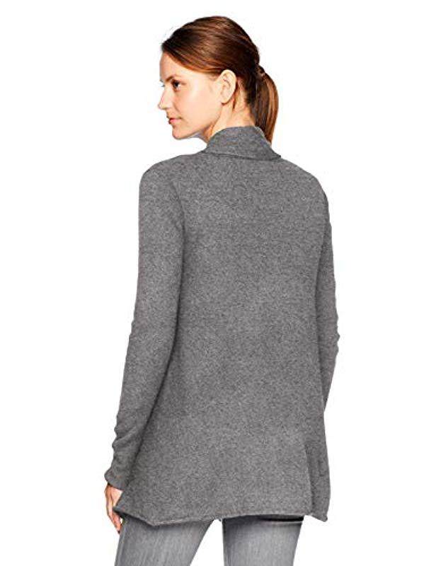 f3a7433aef2895 Lyst - Velvet By Graham & Spencer Terrah Cashmere Classic Cardigan in Gray