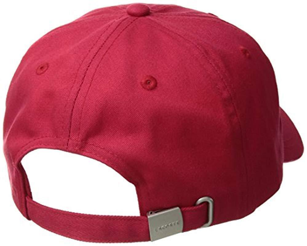 2fb92e83 Lacoste - Red Small Croc Strapback Cap for Men - Lyst. View fullscreen