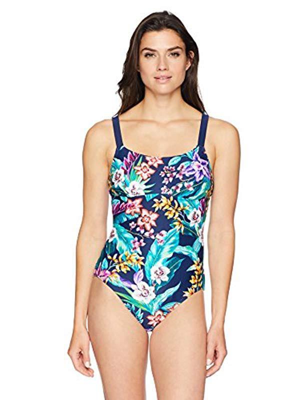 57f391d66dc86 Lyst - Coastal Blue Swimwear Freestyle One Piece Swimsuit in Blue ...