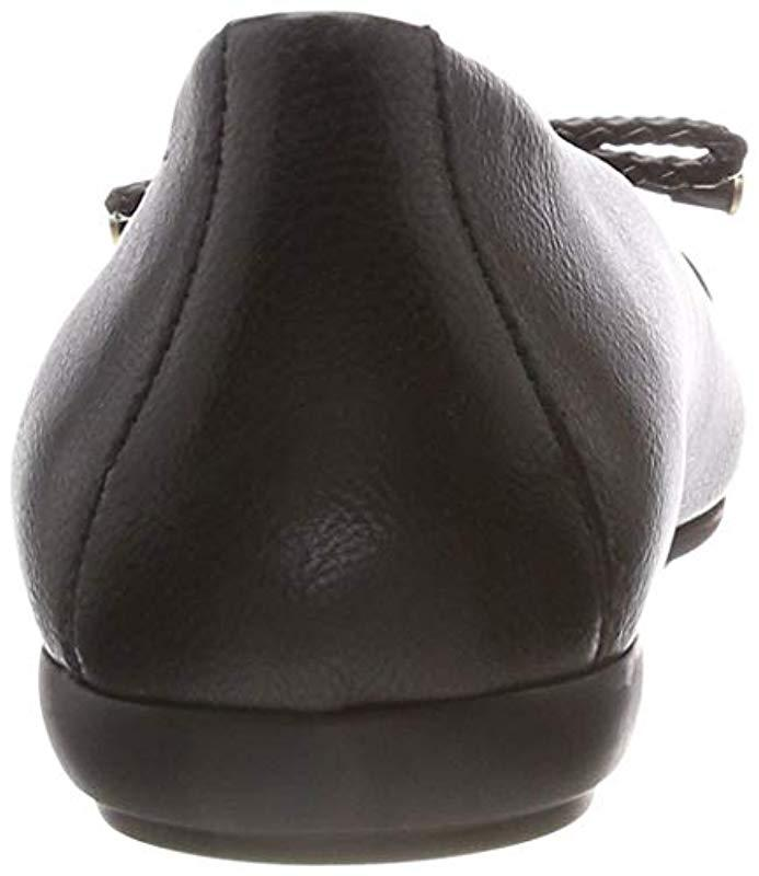 68ecd56e7b Geox - Black Annytah 6 Ballet Round Toe Flats With Bow-arch Support And  Cushioning. View fullscreen