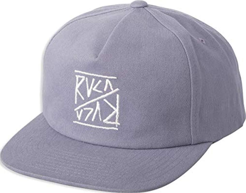 4f0b2bb20fe Lyst - Rvca Slant Box Snapback Hat in Purple for Men
