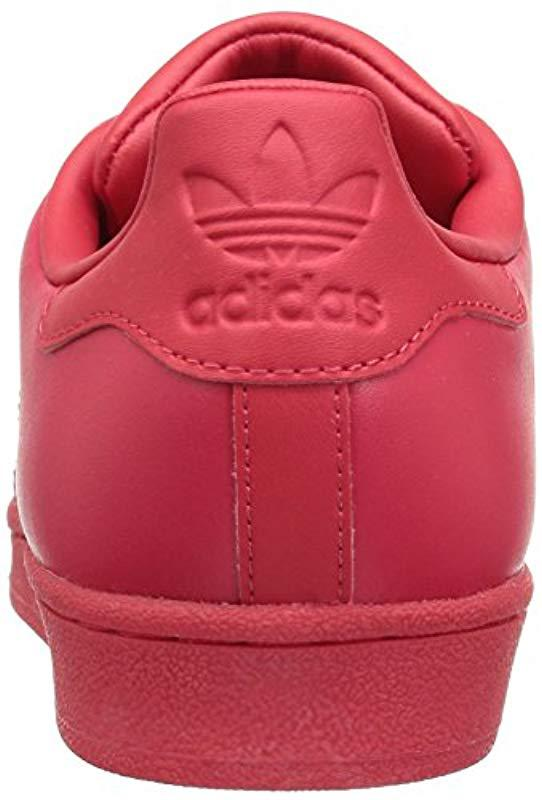san francisco e4a82 3de63 Adidas Originals - Red Superstar Glossy Toe W Fashion Sneaker - Lyst. View  fullscreen