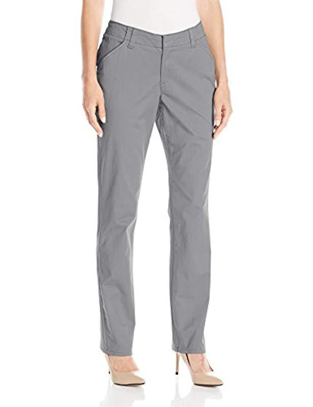 1bc872c6 Lyst - Lee Jeans Midrise Fit Essential Chino Pant in Gray - Save 29%